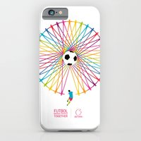 iPhone & iPod Case featuring Futbol Brings People Together by Betirri