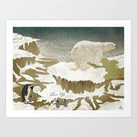 Yellow Snow Art Print