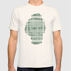 The Various Parts of Mr. Lincoln Exploding Towards the Viewer Mens Fitted Tee Natural SMALL