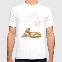 La Léopard Mens Fitted Tee White SMALL