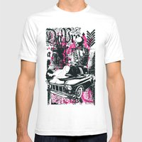 Pin up Car Mens Fitted Tee White SMALL