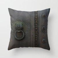 Dark Entry  Throw Pillow