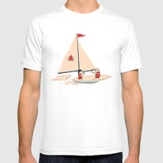 Sailing Towards Future Unknowns Mens Fitted Tee SMALL White