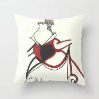 Queen of Hearts Zen Tangle Throw Pillow
