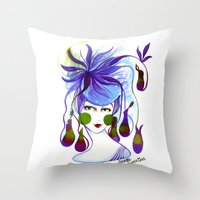 Cocotte Nepenthes Throw Pillow