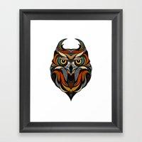 Oldschool Owl Framed Art Print