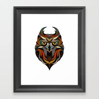 Oldschool Owl Framed Art Print