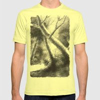 dere ve orman Mens Fitted Tee Lemon SMALL