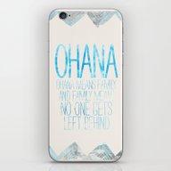 iPhone & iPod Skin featuring OHANA by Sara Eshak