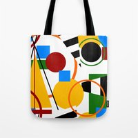 Abstract Art Deco Bermuda Tote Bag