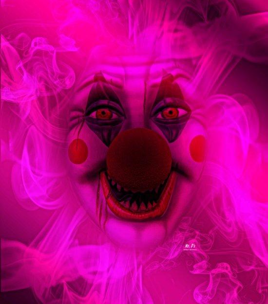 Cotton Candy Clown Art Print