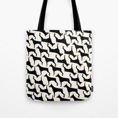 Dog-Doberman: Black on off White Tote Bag