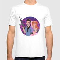 Vice City: Tommy Vercetti and Candy Suxxx Mens Fitted Tee White SMALL