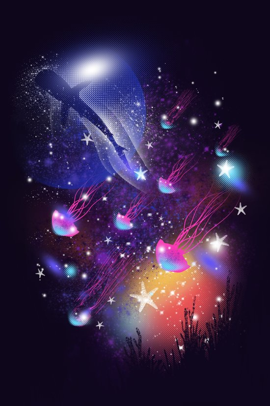 Cosmic Sea Canvas Print