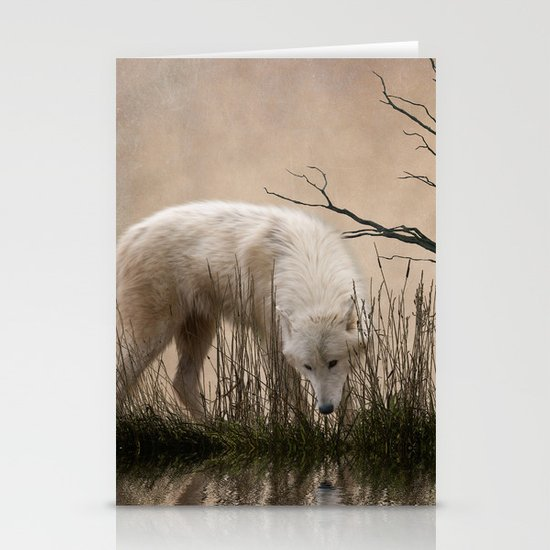 Woodland wolf reflected Stationery Card