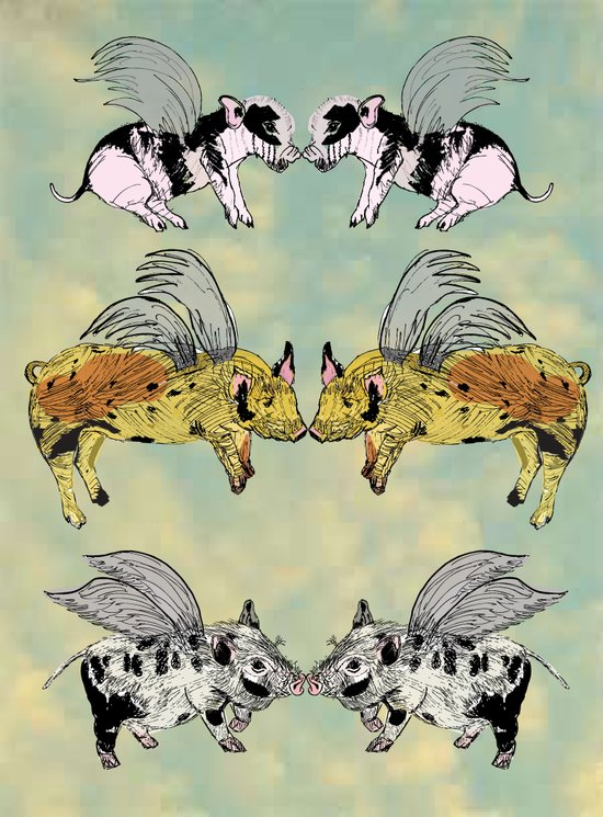 Pigs on the wing Art Print
