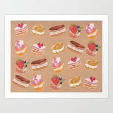 Pastries Art Print