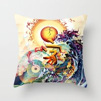 Japan Earthquake 11-03-2011 Throw Pillow