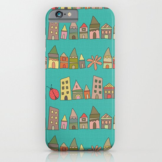 City {Housylands - teal} iPhone & iPod Case
