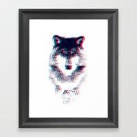 Act Like A Wolf.  Framed Art Print