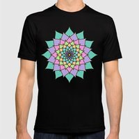 Pastel Lotus Mens Fitted Tee Black SMALL