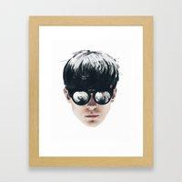 Sea Boy Portrait Framed Art Print