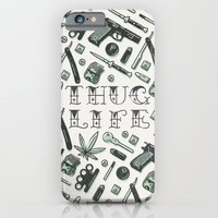 iPhone Cases featuring Thug Life by The Motel