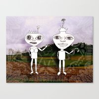 King And Queen Canvas Print