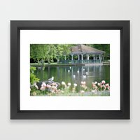 The Band Stand Framed Art Print