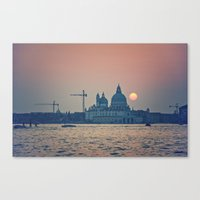 Sunset At Venice Under C… Canvas Print