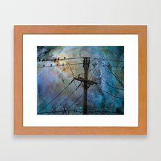 Night Spark Framed Art Print