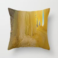 When Caves Cry Throw Pillow