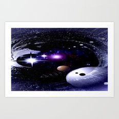 Sternenwelt abstrakt. Art Print