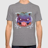 Raging Blastoise Mens Fitted Tee Tri-Grey SMALL