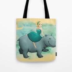 Lovely Hippo Tote Bag