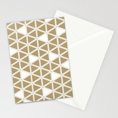 Tan Triangles Stationery Cards