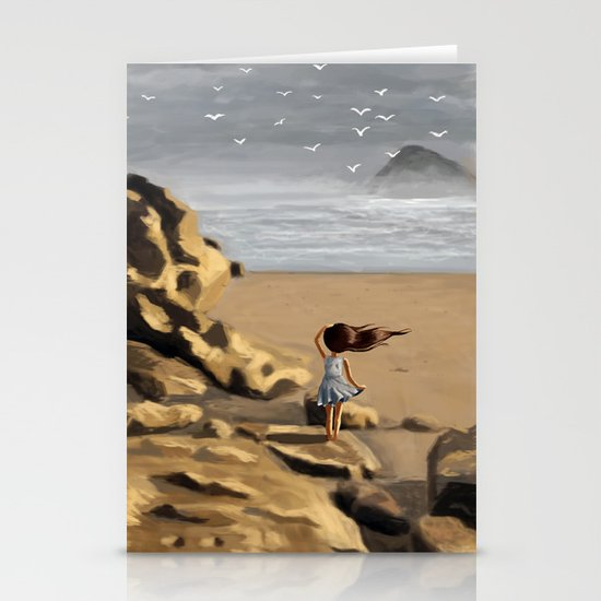 Rocky Beach Stationery Card