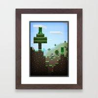 Pixel Art Series 9 : Cre… Framed Art Print