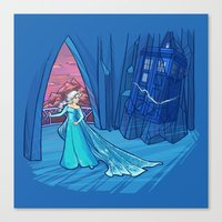 Frozen In Time And Space Canvas Print