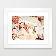 Red Watercolor  Framed Art Print