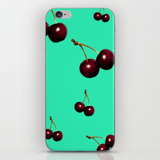 red cherries iPhone & iPod Skin