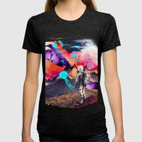 DREAMSCAPE Womens Fitted Tee Tri-Black SMALL