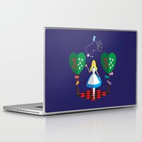 alice in wonderland Laptop & iPad Skins featuring Wonderland by AmadeuxArt