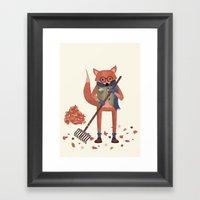 Ferdinand The Fall Fox Framed Art Print