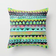 PATTERN {Tribal Stripe -… Throw Pillow