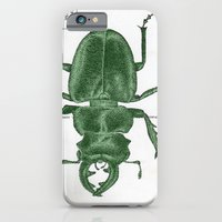 iPhone & iPod Case featuring Green Beetle Postcard by Sarah Sutherland