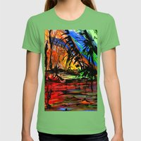 Fire & Flood Womens Fitted Tee Grass SMALL