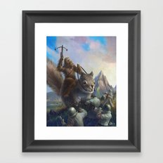 Fur On Fur Framed Art Print
