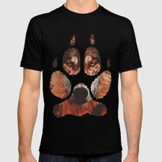 Wolf paw Mens Fitted Tee Black SMALL