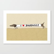 I love Sausages Canvas Print